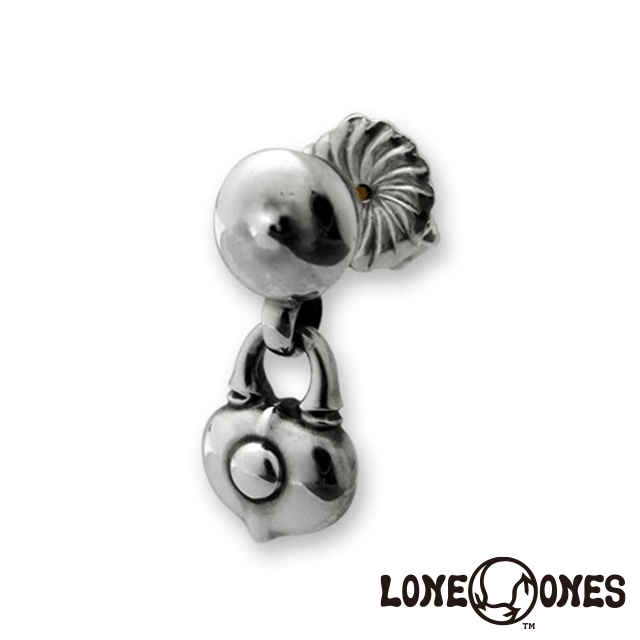 """ロンワンズ LONE ONES """"K&F""""[キス]スタッドイヤリングw/ハートロック[ラブロケット] 日本正規輸入販売代理店"""