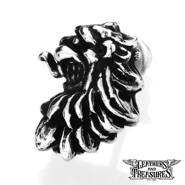 レザーズアンドトレジャーズ【LEATHERS AND TREASURES】ランパント ライオン スタッド ピアス
