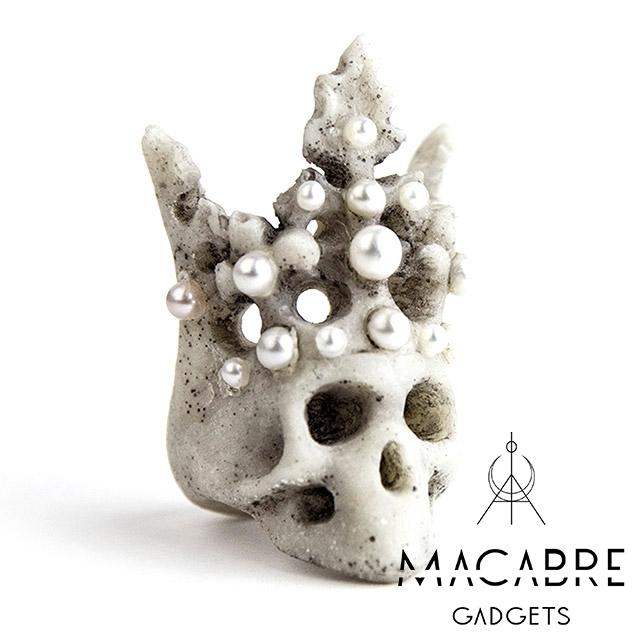 マカブルガジェッツ【Macabre Gadgets】PEARL CROWN RING パール クラウン リング