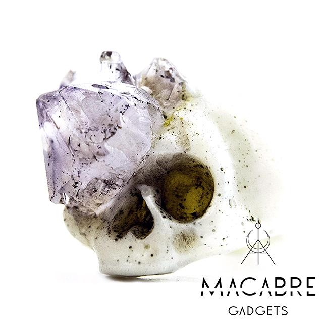 マカブルガジェッツ【Macabre Gadgets】AMETHYST GROWTH SKULL RING スカルリング / アメシスト グロー