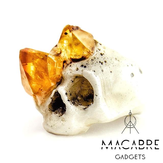 マカブルガジェッツ【Macabre Gadgets】CITRINE GROWTH SKULL RING スカル リング / シトリン グロー