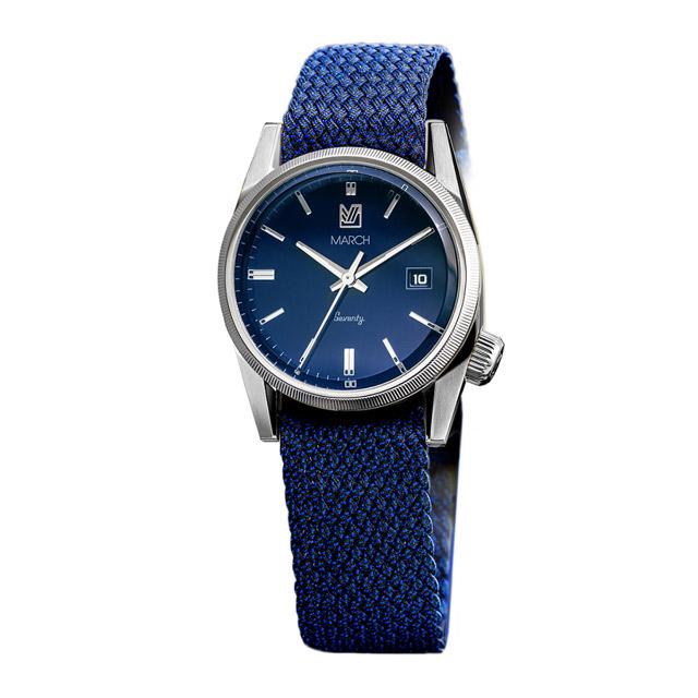 マーチエルエービー【MARCH LA.B】 腕時計 メンズ Seventy S 9 - Bleu