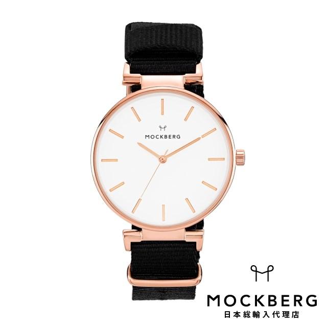 モックバーグ MOCKBERG 日本総輸入代理店公式ショップ 時計 腕時計 レディース ウォッチ Modest Nato 34mm - Rosegold, Black ギフト
