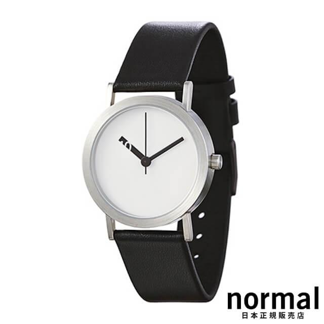 ノーマルタイムピーシーズ 腕時計 エクストラノーマル ホワイト 32mm Normal Timepieces EXTRA NORMAL - LEATHER EN01-L18BL