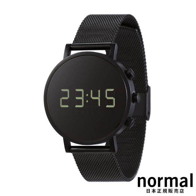 ノーマルタイムピーシーズ 腕時計 Normal Timepieces TOKIJI T02-M18BL ブラック メッシュ バンド 38mm