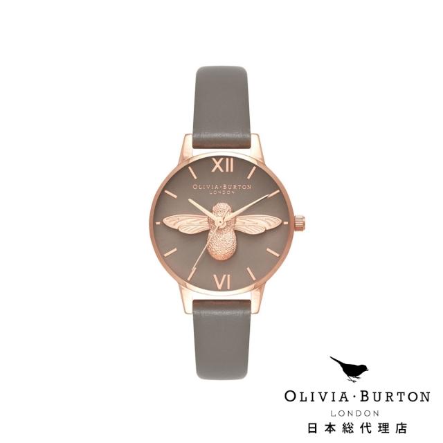 オリビアバートン レディース 腕時計 Olivia Burton ロンドングレー & ローズゴールド 日本正規総代理店 記念日 ギフト プレゼント 新生活 贈り物 時計