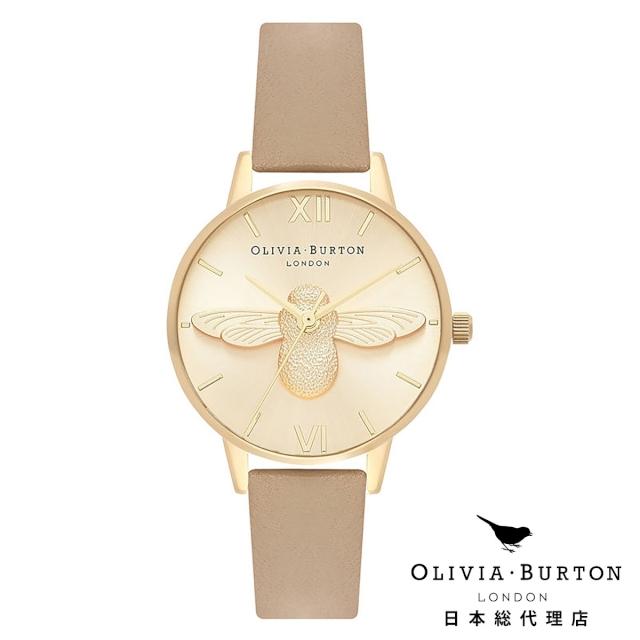 オリビアバートン レディース 腕時計 Olivia Burton 3Dビー サンド & ゴールド 新作