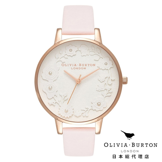 オリビアバートン レディース 時計 腕時計 Olivia Burton アルチザンダイヤル ブロッサム & ローズゴールド