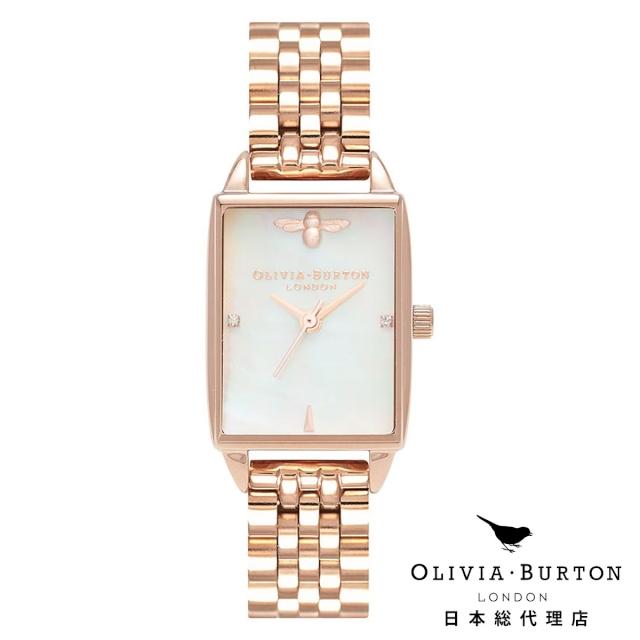 オリビアバートン レディース 時計 腕時計 Olivia Burton ビーハイブ ホワイト マザーオブパール & ローズゴールド