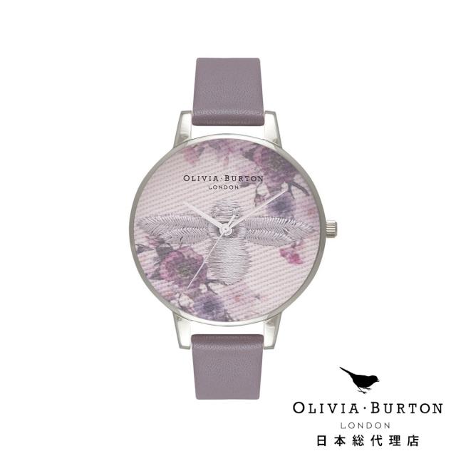 オリビアバートン レディース 時計 腕時計 Olivia Burton エンブロイダーダイヤル ロンドングレー & シルバー 日本正規総代理店 記念日 ギフト プレゼント 新生活 贈り物 時計