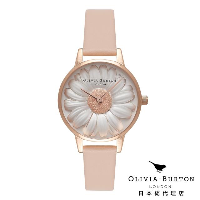 オリビアバートン レディース 腕時計 日本正規代理店 公式ストア Olivia Burton フラワーショー モールデッド ヌードピーチ & ローズゴールド 花柄 フラワー