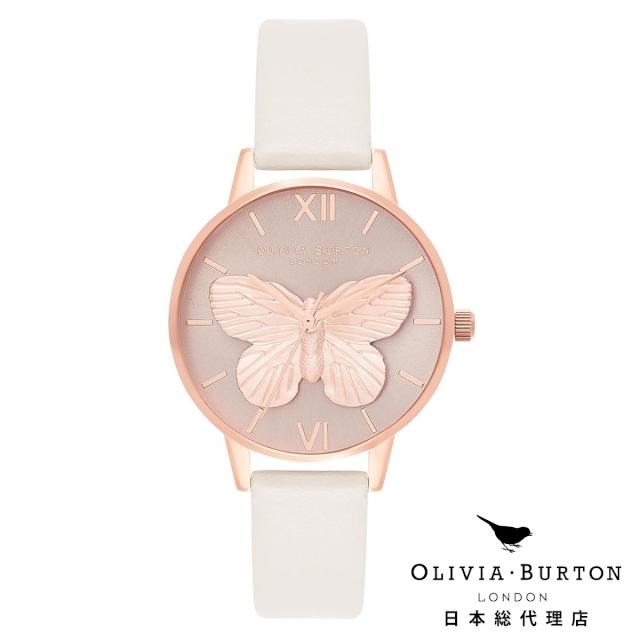 オリビアバートン レディース 時計 腕時計 Olivia Burton 3D バタフライ ブラッシュ & ローズゴールド
