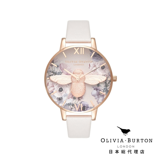 オリビアバートン レディース 腕時計 Olivia Burton ウォーターカラーフローラル ブラッシュ & ローズゴールド 日本正規総代理店 記念日 ギフト プレゼント 新生活 贈り物 時計
