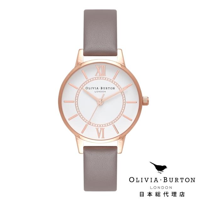 オリビアバートン 腕時計 日本正規総代理店 Olivia Burton ワンダーランド ロンドン グレー ローズゴールド オリビアバートン 日本正規総代理店 記念日 ギフト プレゼント 新生活 贈り物 時計