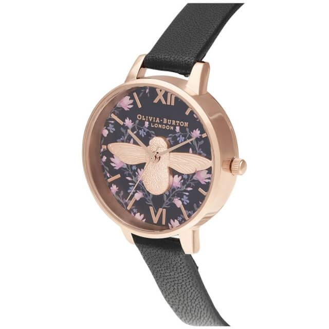 オリビアバートン レディース 時計 Olivia Burton 腕時計 ミント トゥ ビー デミ 3D ブラック & ローズゴールド ギフト 新生活