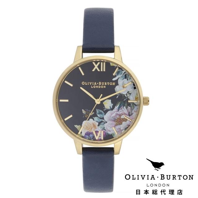 オリビアバートン レディース 腕時計 日本正規総代理店 公式ストア Olivia Burton エンチャントガーデン ミッドナイト サンレイ ネイビー & ゴールド ギフト