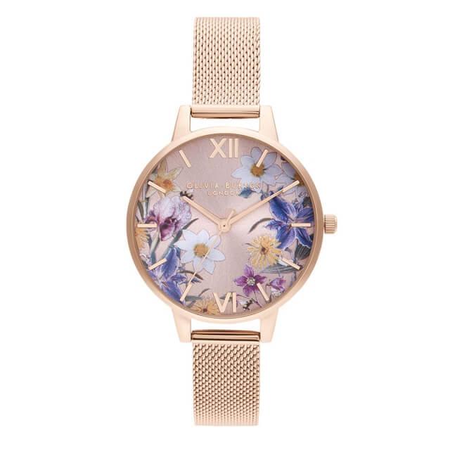 オリビアバートン レディース 時計 Olivia Burton 腕時計 ベストインショウ ブラッシュ サンレイ & パール ローズゴールドメッシュ