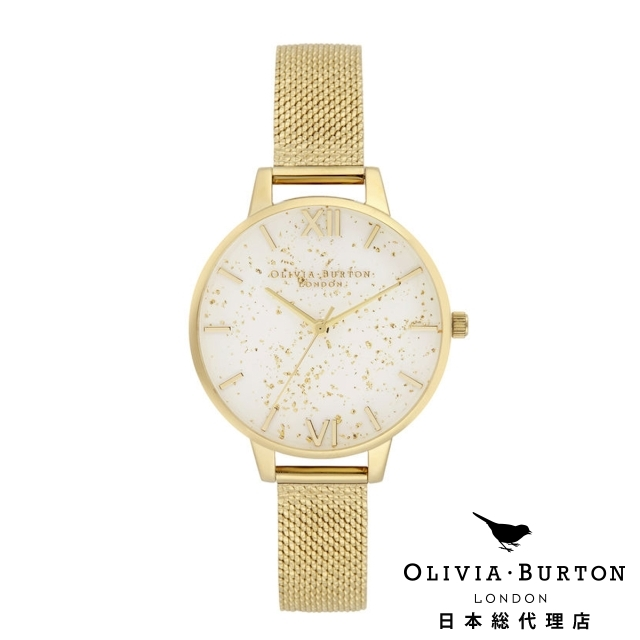 オリビアバートン レディース 腕時計 日本正規総代理店 公式ストア Olivia Burton セレスティアル ゴールド グリッター ゴールド ブークレ メッシュ ギフト
