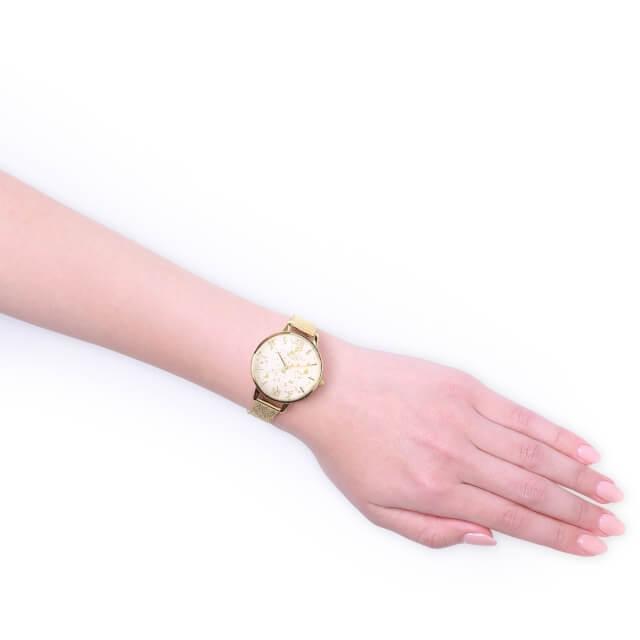 オリビアバートン レディース 時計 腕時計 日本正規総代理店 公式ストア レディース ウォッチ Olivia Burton セレスチュアル ゴールド グリッター ゴールド ブークレ メッシュ 新作 ギフト