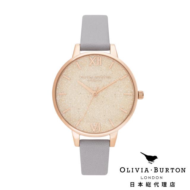 オリビアバートン レディース 腕時計 日本正規代理店 公式ストア Olivia Burton グリッターダイヤル グレイライラック & パール ローズゴールド