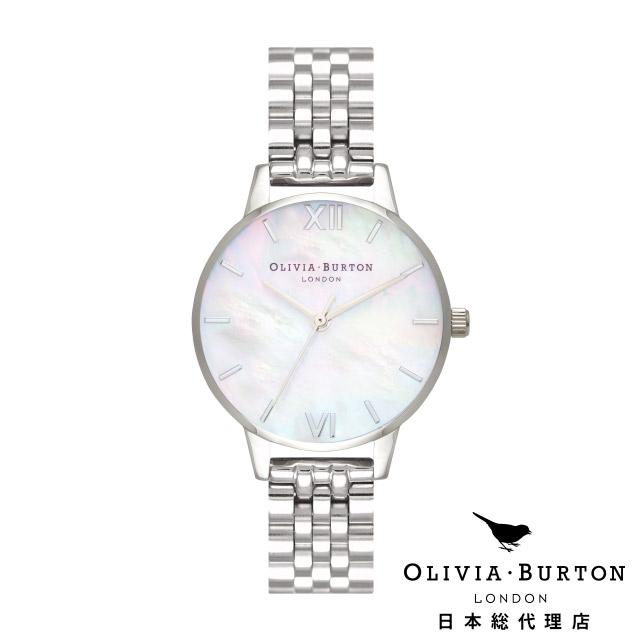 オリビアバートン レディース 腕時計 日本正規代理店 公式ストア Olivia Burton ミディホワイト マザーオブパール ミディ ホワイト マザーオブパール & シルバー