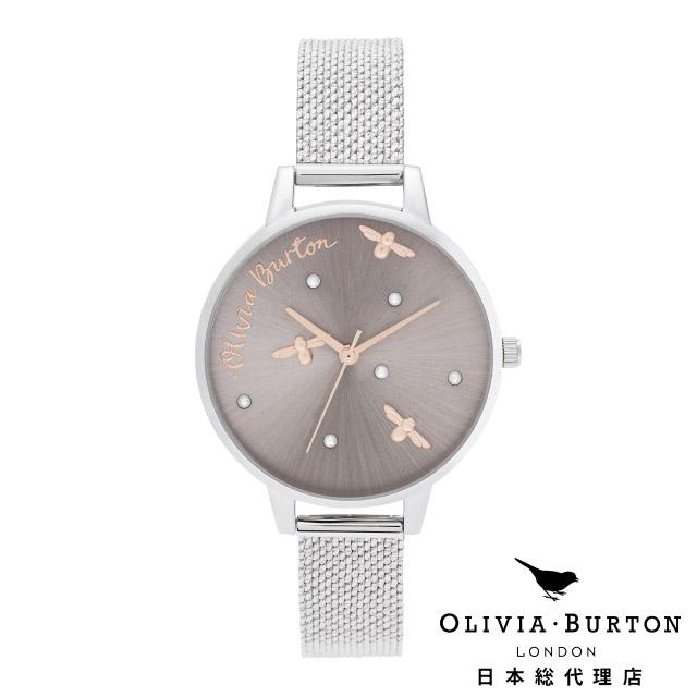 オリビアバートン レディース 腕時計 日本正規代理店 公式ストア Olivia Burton パーリークイーン パールディティール ブークレ シルバーメッシュ