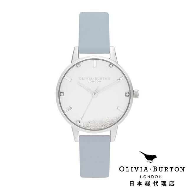 オリビアバートン レディース 時計 Olivia Burton 腕時計 ウィッシングウォッチ ヴィーガン チョークブルー & シルバー