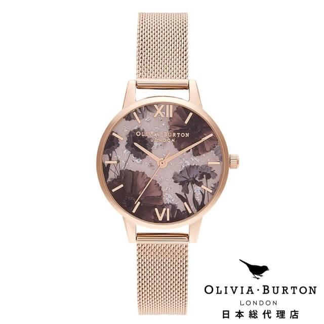 オリビアバートン レディース 時計 Olivia Burton 腕時計 セレスティアル ローズクォーツ & パール ローズゴールド