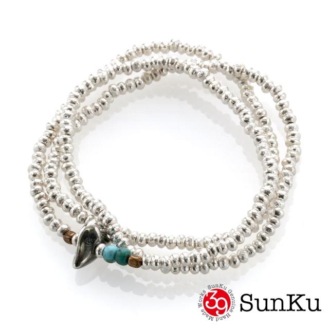 サンク【SunKu 39】シルバー ビーズ ネックレス&ブレスレット