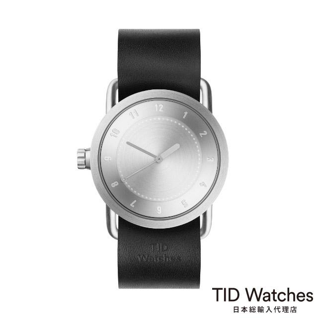 ティッド ウォッチ【TID Watches】 腕時計 メンズ レディース No.1 Steel / ブラック レザー ベルト 36mm
