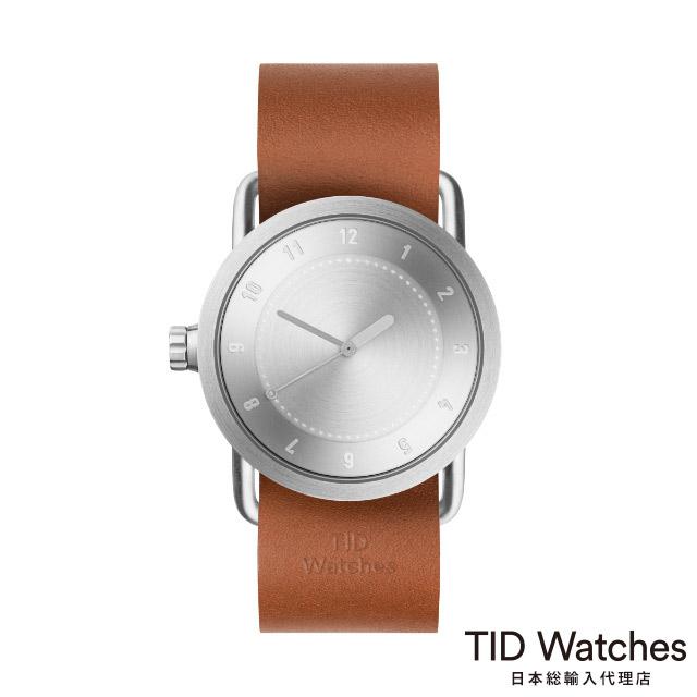 ティッド ウォッチ【TID Watches】 腕時計 メンズ レディース No.1 Steel / レザー ベルト ブラウン 36mm