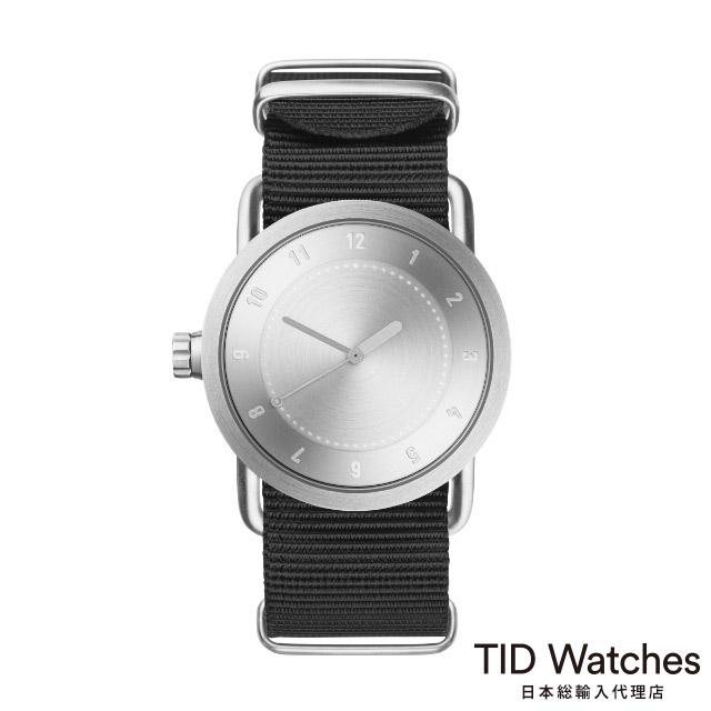 ティッド ウォッチ【TID Watches】 腕時計 メンズ レディース No.1 Steel / ブラック ナイロン ベルト 36mm