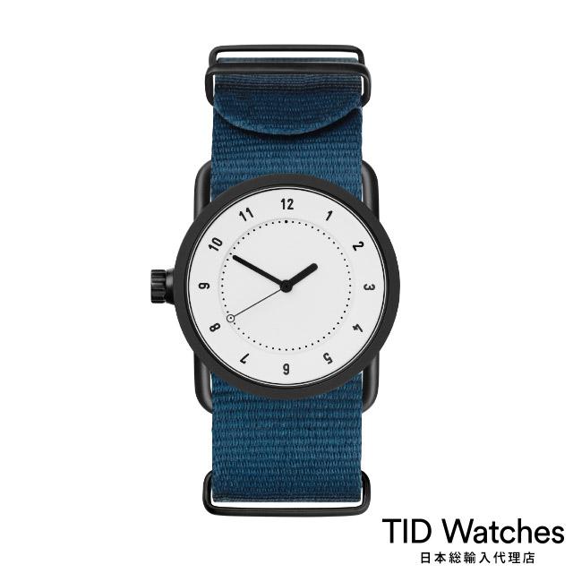 ティッド ウォッチ【TID Watches】 腕時計 メンズ レディース No.1 White / ブルー ナイロン ベルト 白文字盤 33mm