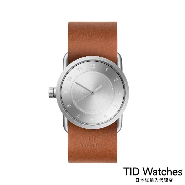 ティッド ウォッチ【TID Watches】 腕時計 メンズ レディース No.1 Steel / レザー ベルト ブラウン 33mm