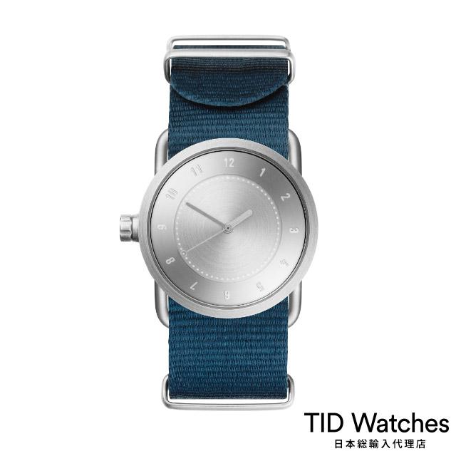 ティッド ウォッチ【TID Watches】 腕時計 メンズ レディース No.1 Steel / ブルー ナイロン ベルト 33mm