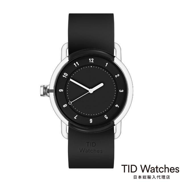 [ボールペンプレゼント]ティッドウォッチズ【TID Watches】 腕時計 メンズ レディース No.3 TR90 Black / ブラック シリコン ベルト