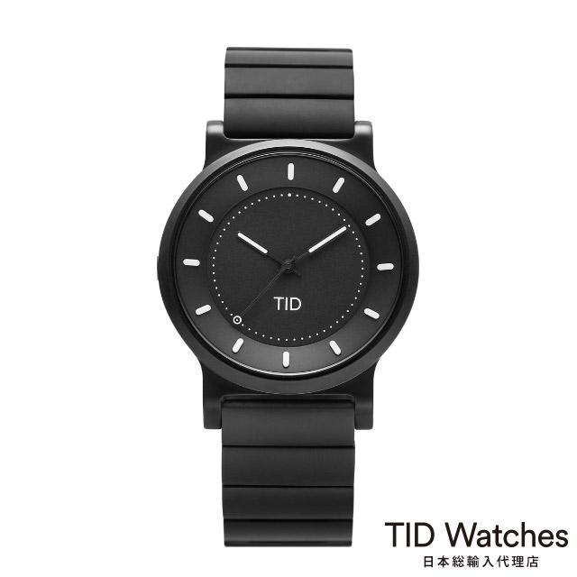 [ボールペンプレゼント]ティッドウォッチズ【TID Watches】 腕時計 メンズ No.4 ガン メタル / ガン メタル リストバンド 40mm