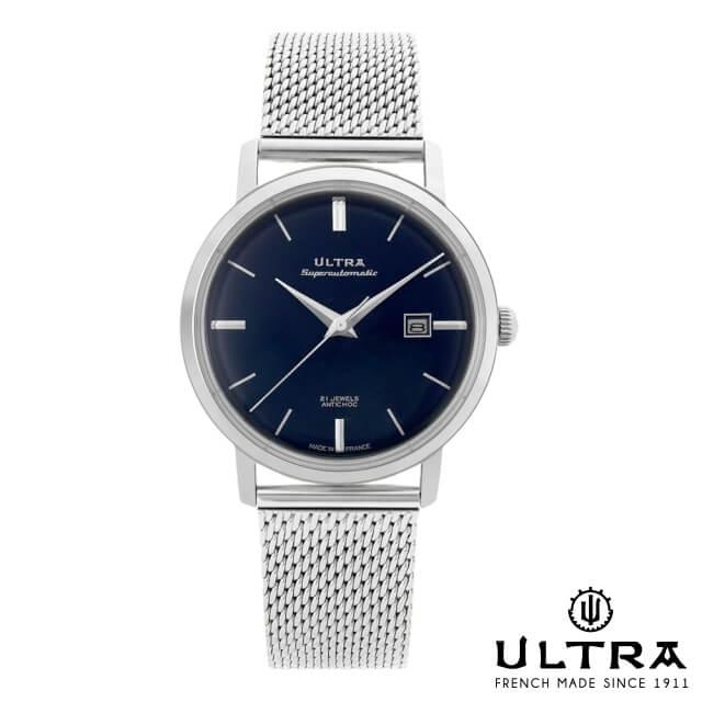 ウルトラ 腕時計 ULTRA Superautomatic NAVY / SILVER SILVER MESH