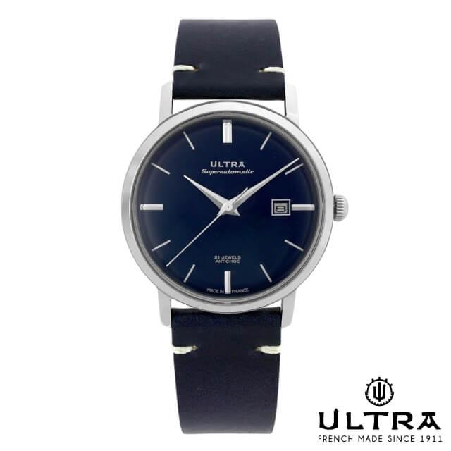 ウルトラ 腕時計 ULTRA Superautomatic NAVY / SILVER / NAVY LEATHER