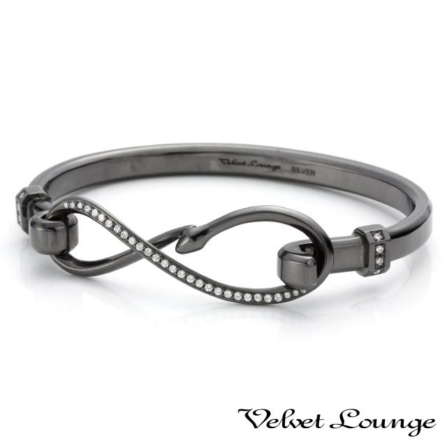 ヴェルヴェットラウンジ【Velvet Lounge】エターナルバングル ブラック/キュービックジルコニア
