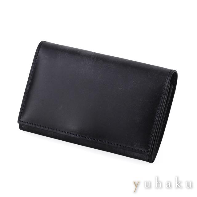 ユハク【YUHAKU】名刺入れ ブラック カード ケース ネイビー &
