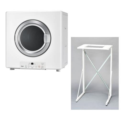 リンナイ ガス衣類乾燥機 乾太くん RDT-54S-SV 乾燥容量5kg ガスコード接続タイプ 専用置台(高)付