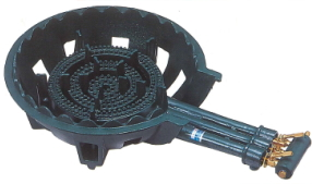 鋳物コンロ 三重 種火無し ガスバーナー(普及タイプ) 底枠付 SB301 ホースエンド固定式 タチバナ TS-330 同等品