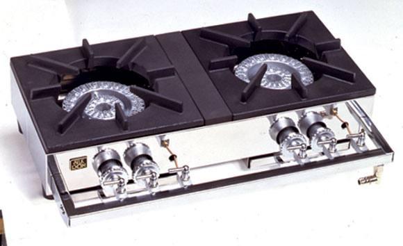 山岡金属(ヤマキン)S-2220 卓上ガステーブルコンロ 2口(2連)
