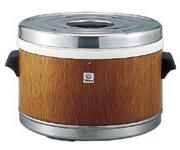 タイガー魔法瓶ステンレスジャー(保温専用) 3升(5.7L) 外装 木目【JFM-5700-MO】