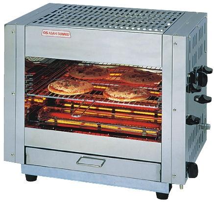 アサヒサンレッド ガス赤外線万能両面焼物器(ピザオーブン)AP-605