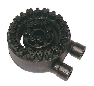 業務用(工業用)強力中華バーナー (三つ葉バーナー) 黒 8インチ(直径200mm)【RKA8】