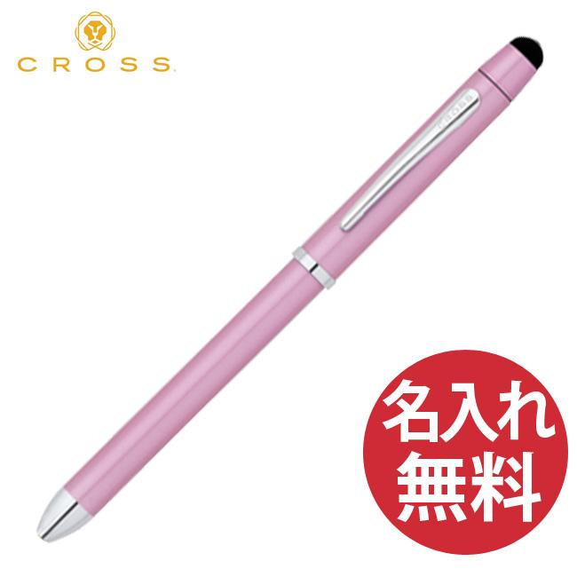 国内正規品 保証書付き ラッピング無料 名入れ無料 豪華な 完売 CROSS クロス AT0090-6 テックスリープラス マルチペン 黒+赤 ×シャープペンシル0.5mm×スタイラス 複合ペン 多機能ペン ボールペン フロスティピンク TECH3+