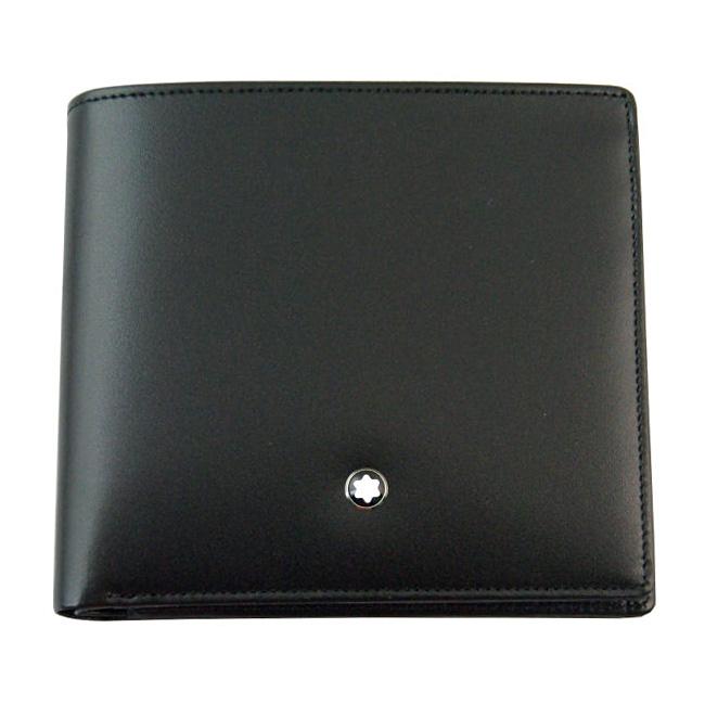 MONTBLANC モンブラン U0007164 二つ折り財布 小銭入れ付き ブラック 30655 ビルフォールド 4CC WITH コインパース