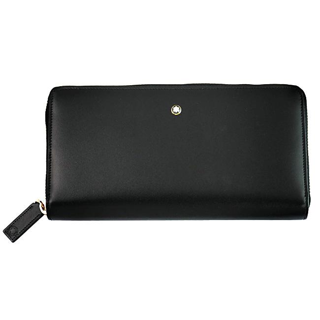MONTBLANC モンブラン U114532 ラウンドファスナー長財布 小銭入れ付き ブラック MST ジップアラウンドロングウォレット 8CC